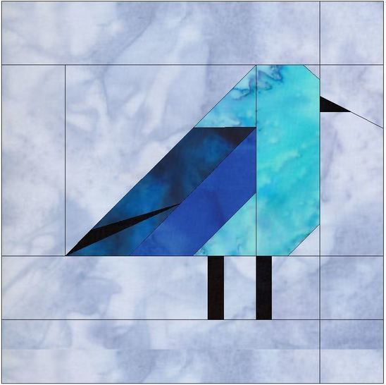 Download Mountain Bluebird 10 Inch Foundation Block Paper Piece Quilting  - Patchwork & Quilting immediately at Makerist