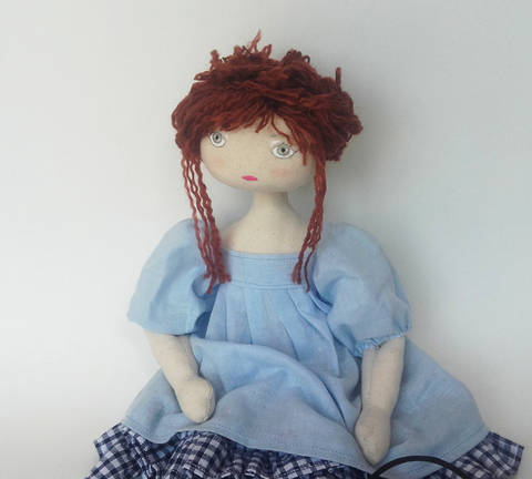 Download Rag doll sewing pattern and tutorial - 35 cm (13,65 inches) tall - Nuumber 3 immediately at Makerist