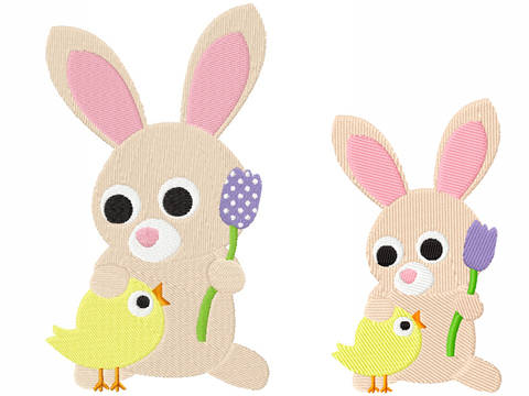 Stickdatei Hase Ostern 2 bei Makerist sofort runterladen