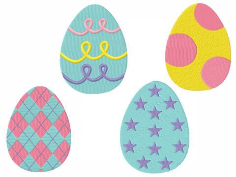 Stickdatei Ostereier Ostern bei Makerist sofort runterladen