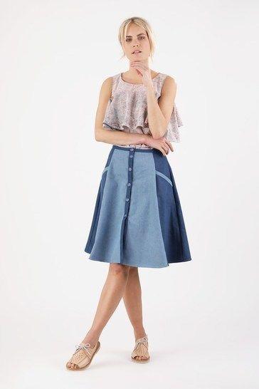Télécharger Jupe Marta - Patron de couture avec tutoriel en Français - 2 patrons en 1 - Patrons de couture tout de suite sur Makerist