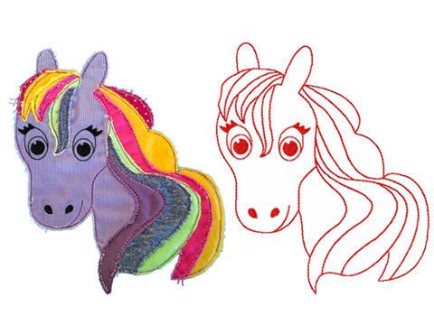 Luna Zauberpferdchen Redwork Doodle Stickdatei bei Makerist sofort runterladen