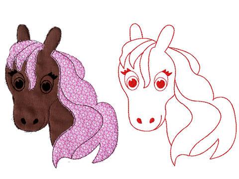 Stella Zauberpferdchen Redwork Doodle Stickdatei bei Makerist sofort runterladen