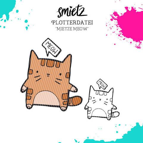 """Plotterdatei Kastentierchen """"Mietze Meow"""" inklusive Minilizenz bei Makerist sofort runterladen"""