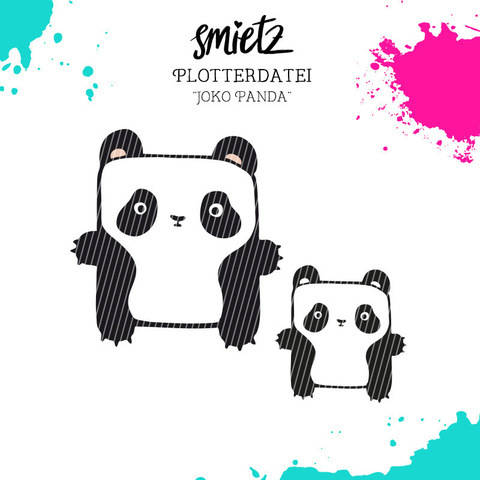 """Plotterdatei Kastentierchen """"Joko Panda"""" inklusive Minilizenz bei Makerist sofort runterladen"""