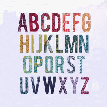 Download My First Alphabet  - 3 inch - Patchwork & Quilting immediately at Makerist