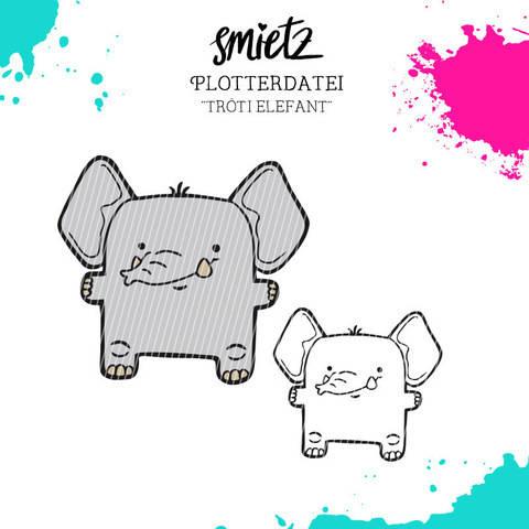 """Plotterdatei Kastentierchen """"Tröti Elefant"""" inklusive Minilizenz bei Makerist sofort runterladen"""