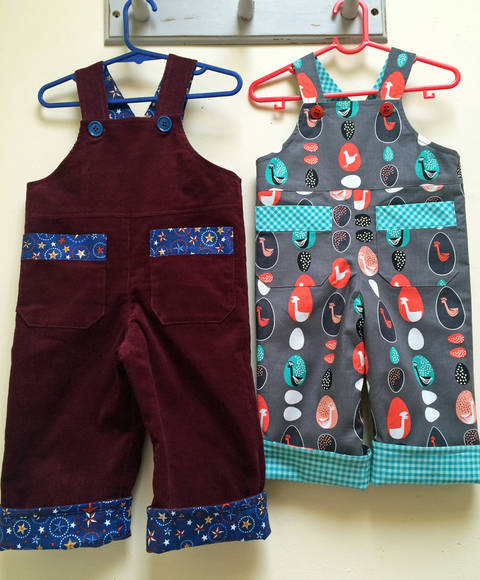Download Baby Boy Reversible Overalls/Romper Sewing Pattern immediately at Makerist