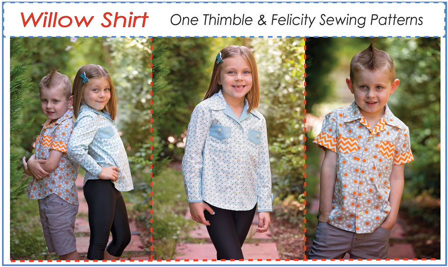 Casual Shirt For Boys Girls Willow Shirt Sewing Pattern