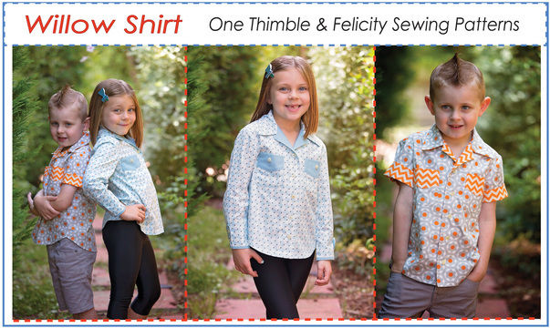 Download Casual Shirt for Boys & Girls WILLOW SHIRT sewing pattern - Sewing Patterns immediately at Makerist