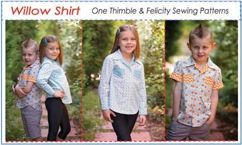 Download Casual Shirt for Boys & Girls WILLOW SHIRT sewing pattern immediately at Makerist