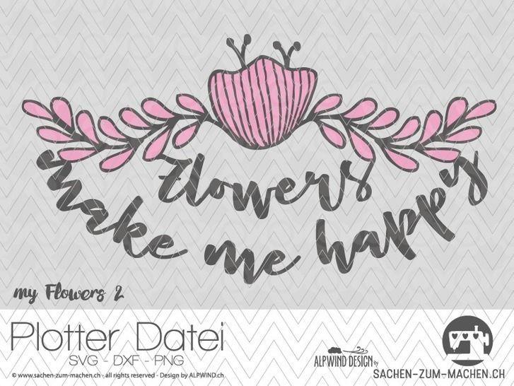 "Plotter-Datei ""my flowers"" #2 - Plotterdateien bei Makerist sofort runterladen"