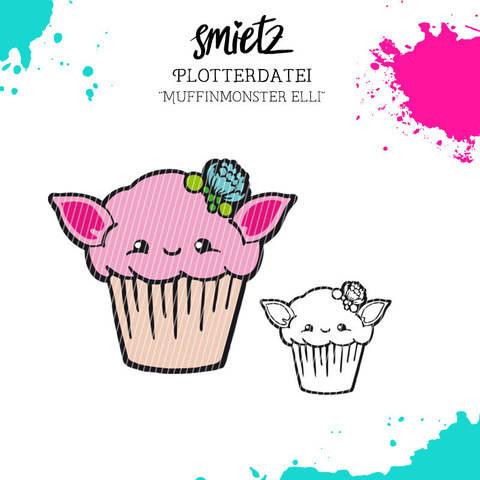 """Plotterdatei """"Muffinmonster Elli"""" inklusive Minilizenz bei Makerist sofort runterladen"""