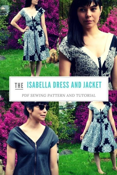 Download The Issabella Dress and Jacket pattern immediately at Makerist
