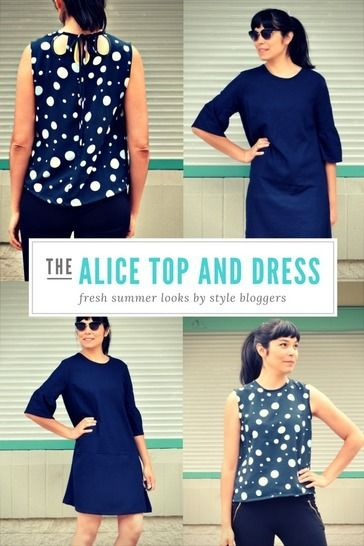 Download The Alice Top, Tunic and Dress pattern - Sewing Patterns immediately at Makerist