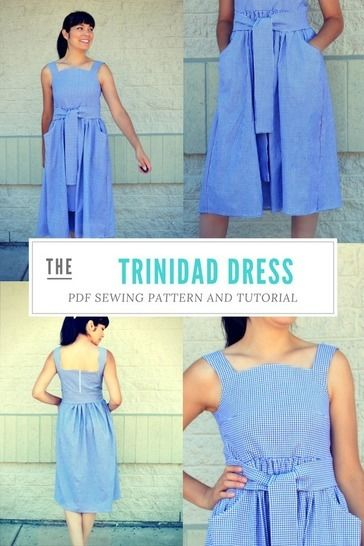 Download The Trinidad Dress Pattern - Sewing Patterns immediately at Makerist