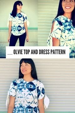 Download The Olvie Top and Dress pattern - Sewing Patterns immediately at Makerist