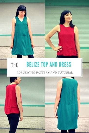 Download The Belize Top and Dress pattern - Sewing Patterns immediately at Makerist