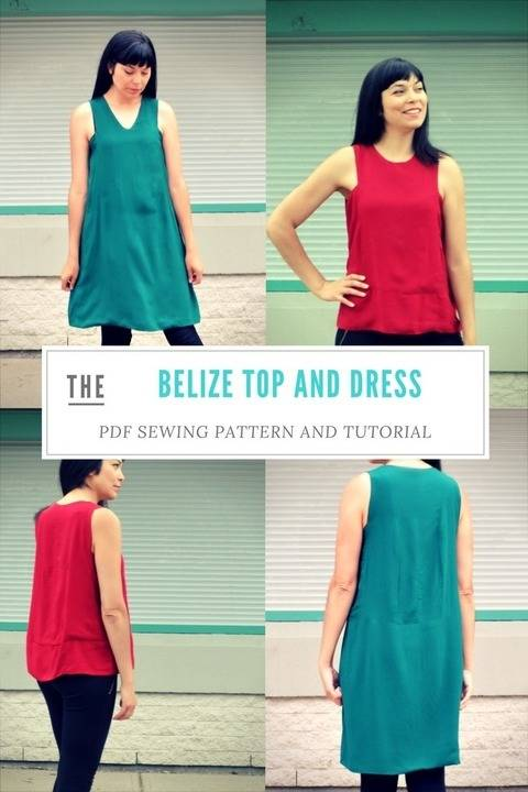 Download The Belize Top and Dress pattern immediately at Makerist