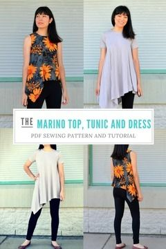 Download The Marino Top and Dress Pattern - Sewing Patterns immediately at Makerist