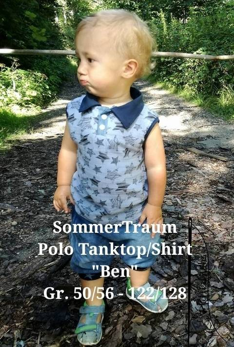 Schnittmuster SommerTraum Polo Tanktop Shirt Ben bei Makerist sofort runterladen