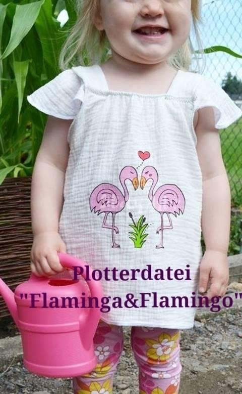 Plotterdatei Flaminga und Flamingo  bei Makerist sofort runterladen