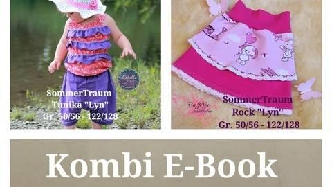 Schnittmuster Kombi Ebook SommerTraum Tunika und Rock inkl. Jumpsuit Tutorial  bei Makerist sofort runterladen
