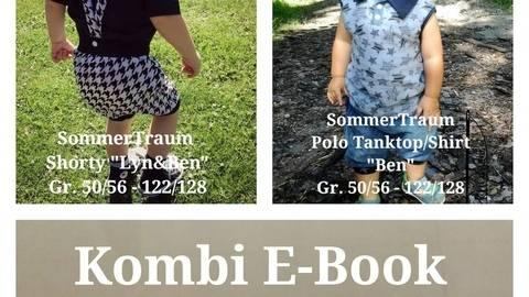 Schnittmuster Kombi Ebook SommerTraum Polo Tanktop Shirt und Shorty inkl. Jumpsuit Tutorial  bei Makerist sofort runterladen