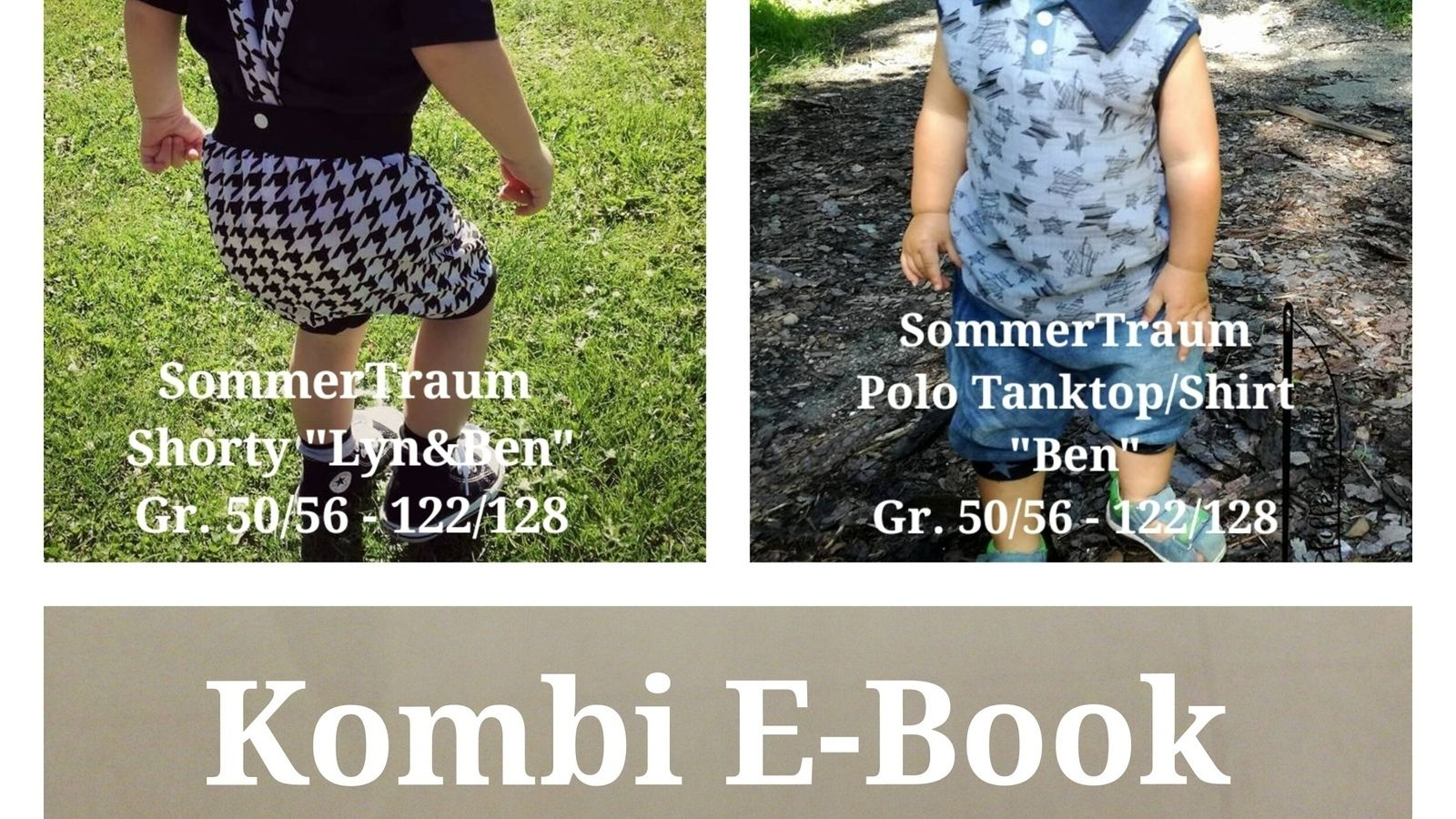 Schnittmuster Kombi Ebook SommerTraum Polo Tanktop Shirt und Shorty ...