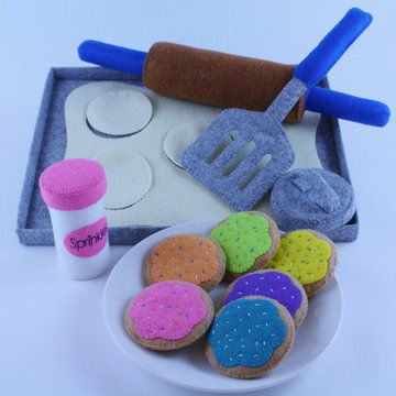 Download Felt Cookie Baking Set - Sewing Patterns immediately at Makerist