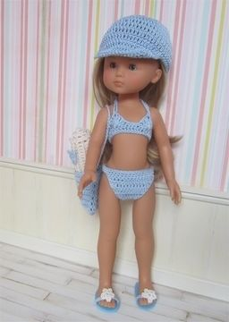 Download Camille on the beach : crochet outfit for 32-33cm doll - Crochet Patterns immediately at Makerist