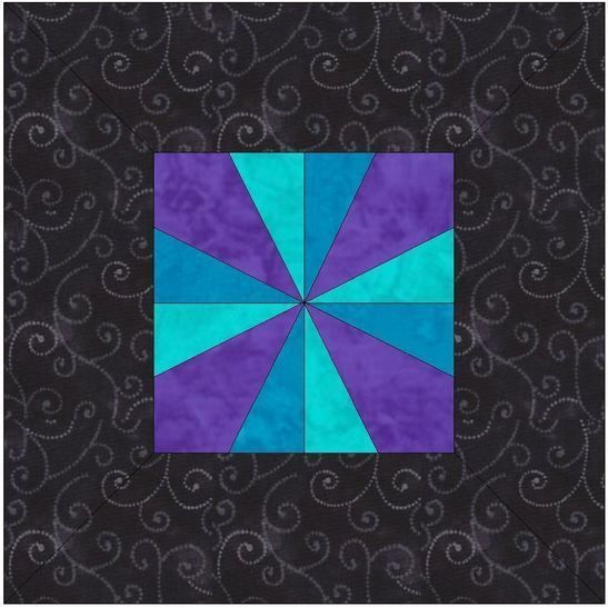Download Framed Pinwheel 15 Inch Block Template Quilting Pattern - Patchwork & Quilting immediately at Makerist
