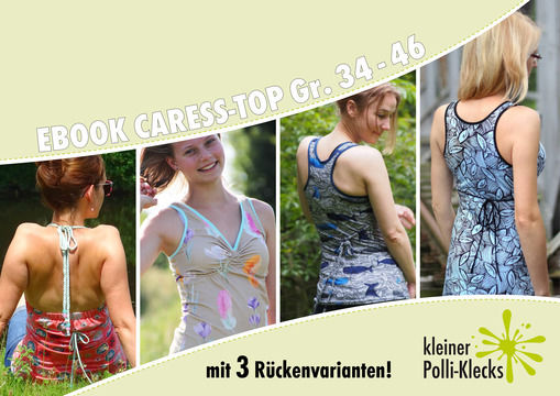 eBook • Caress-Top/Kleid • Gr. 34 - 46 - Nähanleitungen bei Makerist sofort runterladen