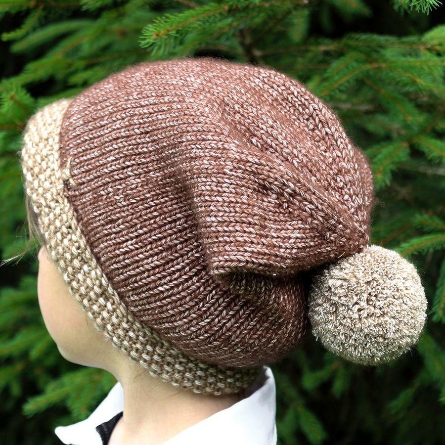 Mütze Bär mit Bommel - Strickanleitung, einfach und warm