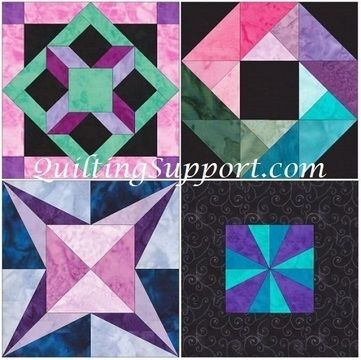 Download 15 Inch HC Quilt Block Set 1 Template Quilting Patterns - Patchwork & Quilting immediately at Makerist