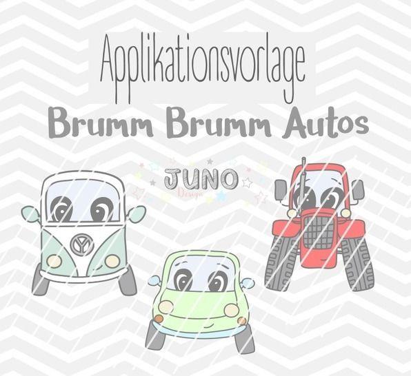 Applikationsvorlage Brumm Brumm Autos - Nähanleitungen bei Makerist sofort runterladen