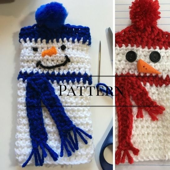 Download Snowman Fingerless gloves - Crochet Patterns immediately at Makerist