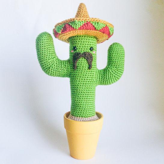 Télécharger Cactus Mexicain - Tutoriel d'amigurumi au crochet - Modèles de crochet tout de suite sur Makerist