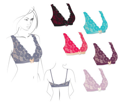 Download  Wire Free Bralette - Detailed Sewing instructions and pattern immediately at Makerist