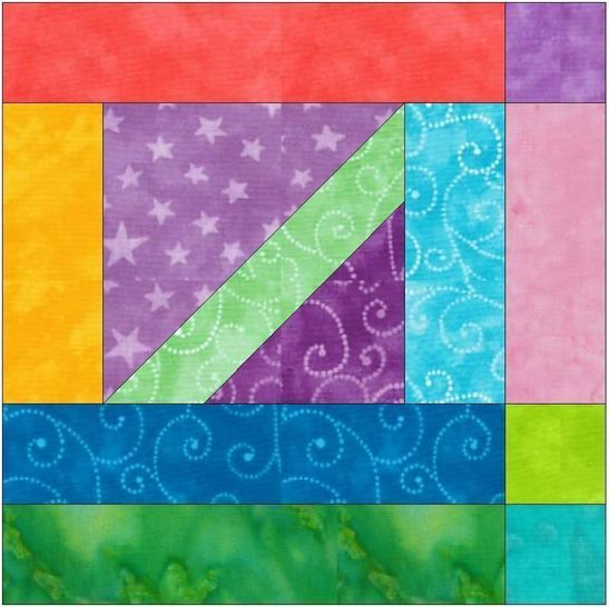 Download HC Geometrical 15 Inch Block Quilting Template Pattern - Patchwork & Quilting immediately at Makerist