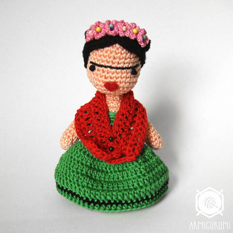 Download Frida Kahlo Doll - Amigurumi crochet pattern immediately at Makerist