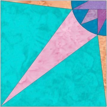 Download HC Quarter Star 7 - 10 Inch Paper Piecing Foundation Quilting Block Pattern - Embroidery Patterns immediately at Makerist