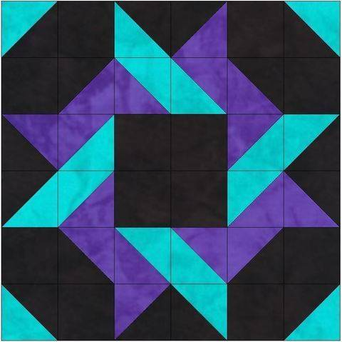 Download HC Saw 15 Inch Block Template Quilting Pattern immediately at Makerist
