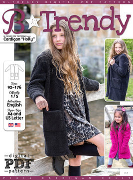 Download Cardigan HOLLY PDF Pattern + Tutorial - Sewing Patterns immediately at Makerist
