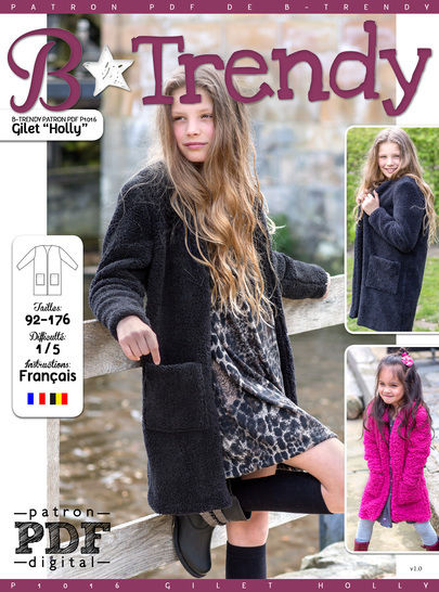 Gilet HOLLY Patron de Couture + Tutoriel chez Makerist - Image 1