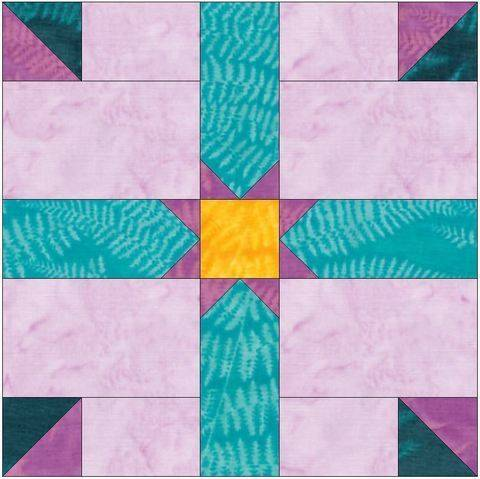 Download HC Rising Star 15 Inch Block Template Quilting Pattern immediately at Makerist