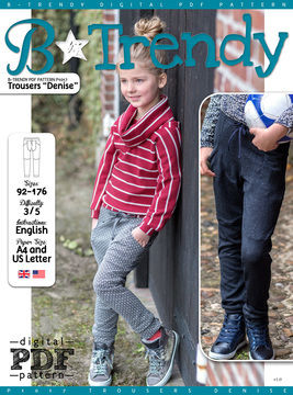 Download Trousers DENISE PDF Pattern + Tutorial - Sewing Patterns immediately at Makerist