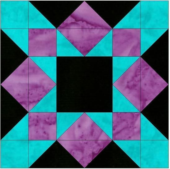 Download HC Crossing 15 Inch Block Quilting Template Pattern - Patchwork & Quilting immediately at Makerist