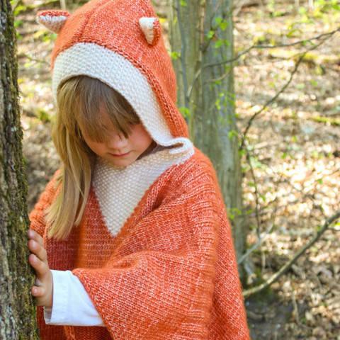 Children`s Poncho - Fox Size 4T/5T bei Makerist sofort runterladen