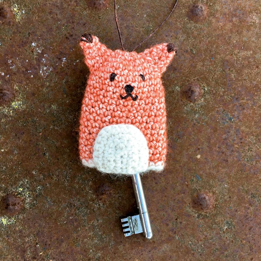 Schlüsselanhänger/Hülle Fuchs - Mitbringsel sehr einfach und schnell